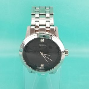GUESS Stainless Steel Bracelet Large Round Black F